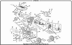 Homelite Ut905700 5700 Watt Generator Parts Diagram For
