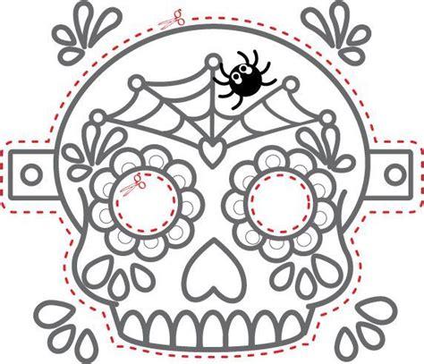 Image result for day of dead printable masks halloween