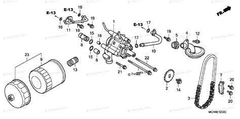 Honda Motorcycle Oem Parts Diagram For Oil Filter