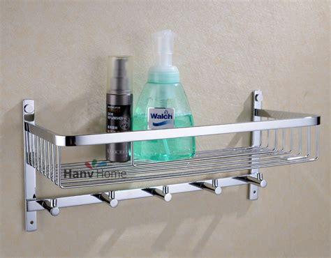 shower basket with hooks bathroom stainless steel shower shelf caddy basket storage