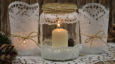 windlicht glas basteln diy windlicht basteln last minute geschenk windlicht mit papierspitze geschenkidee