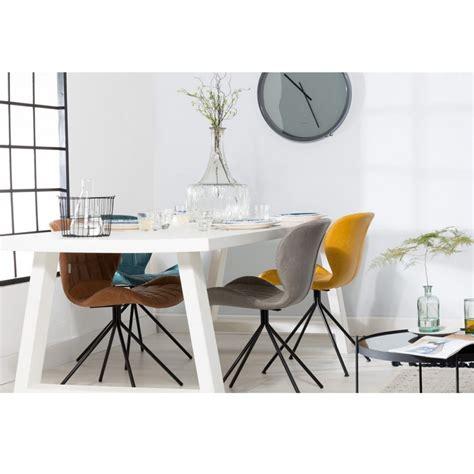 chaise designe chaise designer omg skin cuir marron marron gris bleu