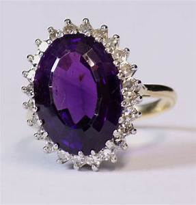 Antiques Atlas - Antique Vintage Amethyst And Diamond Ring.