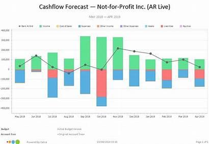 Forecast Chart Cashflow Report Business Cash Flow