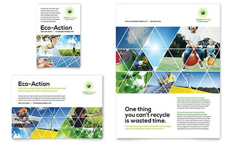 green energy consultant flyer ad template design