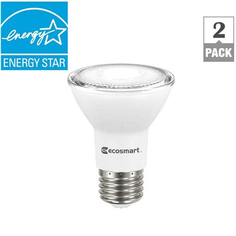 ecosmart 50w equivalent bright white par20 dimmable led