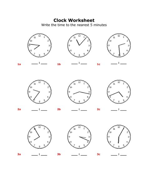 18 best images of reading digital clocks worksheets