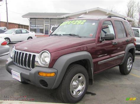 liberty jeep 2002 2002 jeep liberty sport 4x4 in dark garnet red pearlcoat