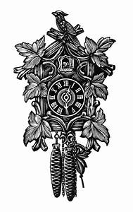 Vintage Cuckoo Clock ~ Free Clip Art - Old Design Shop Blog