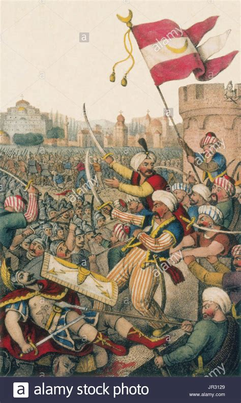 Ottomans Capture Constantinople by Siege Of Constantinople Stock Photos Siege Of