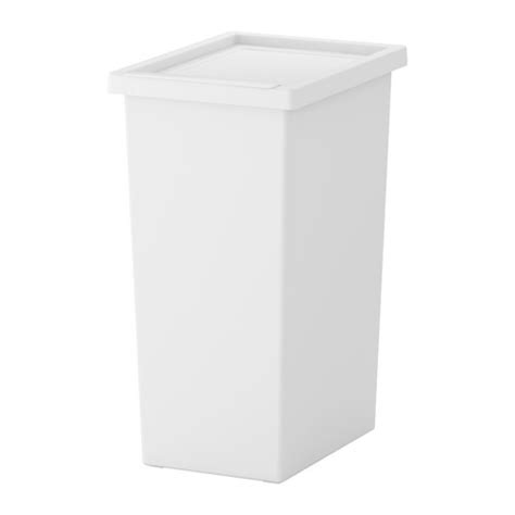 White Garbage Shed by Filur Bin With Lid Ikea