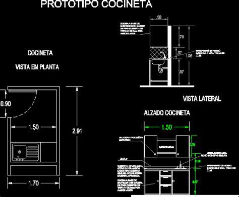 Kitchenette Dwg Block For Autocad • Designs Cad