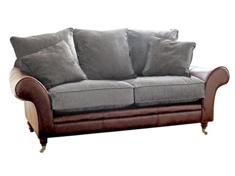 leather and fabric sofa leather fabric sofa the atlanta the english sofa company