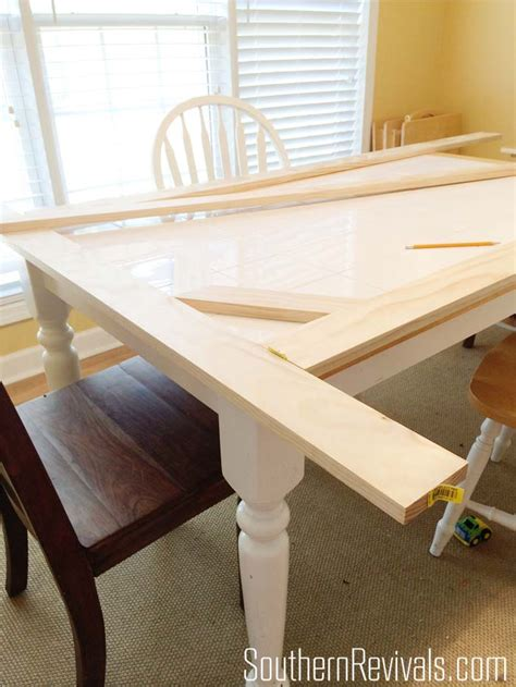 mosaic kitchen table top tile top table makeover updating a tile top table with