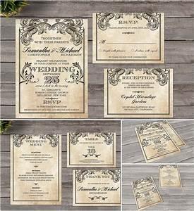 vintage wedding invitation victorian style free download With vintage email wedding invitations