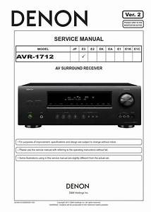 Denon Avr 1712 Receiver Service Manual And Repair Guide