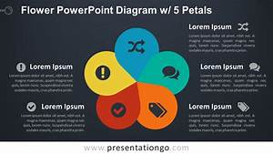 Flower Powerpoint Diagram W   5 Petals