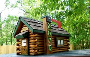 Log Cabin Mailbox handcrafted log mailbox rustic decor