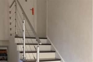 Habillage Escalier Bois : habillage escalier en bois et garde corps inox dardilly ~ Dode.kayakingforconservation.com Idées de Décoration