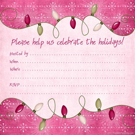 Christmas Holiday Party Invitation Templates Free