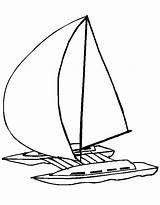 Catamaran Bateau Coloriage Voiture Avion Moto Coloring Template sketch template