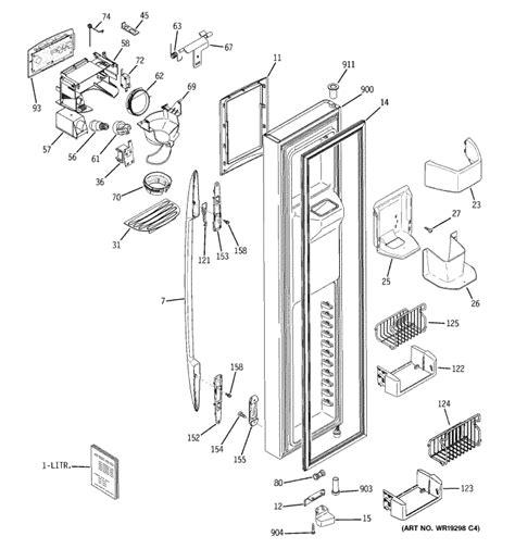 ge model psssgpa arctica profile refrigerator dispenser  working  lights  water