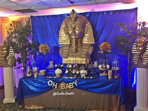 egyptian theme baby shower party ideas photo