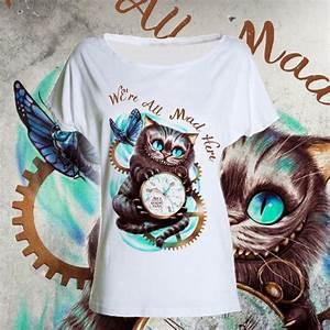 Chat D Alice Au Pays Des Merveilles : t shirt chat du cheshire alice au pays des merveilles rabbit hole stregatto wonderful ~ Medecine-chirurgie-esthetiques.com Avis de Voitures