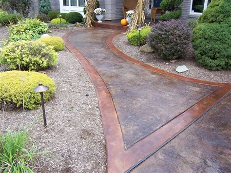 stained concrete walkway sted concrete driveways patios foundations decorative concrete