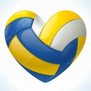 I, Love, Volleyball, U2014, Stock, Vector, U00a9, D