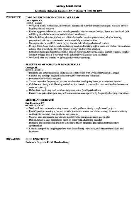Buyer Resume by Merchandise Buyer Resume Sles Velvet
