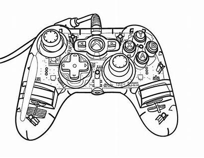 Drawing Controller Xbox Blueprint Line 360 Drawings