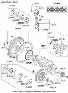 Hyundai Sonata Crankshaft  Sprocket  Gear  Timing  Engine