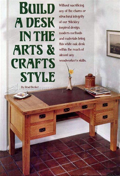 arts  crafts desk plans woodarchivist