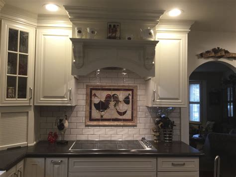 decorative tile backsplash kitchen tile ideas roosters