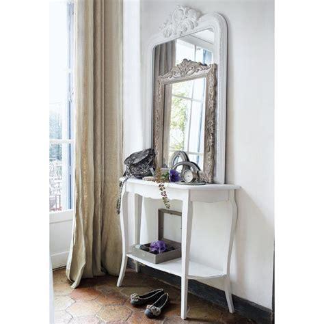 table console en bois blanche   cm console table console en bois maison du monde  console