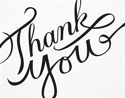 Thank Calligraphy Cards Card Writing Notes Note