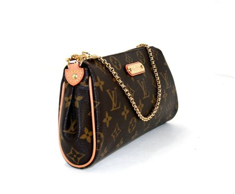 louis vuitton monogram eva clutch crossbody bag  stdibs