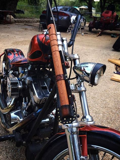 leather mini bat holster   motorcycle fork leather