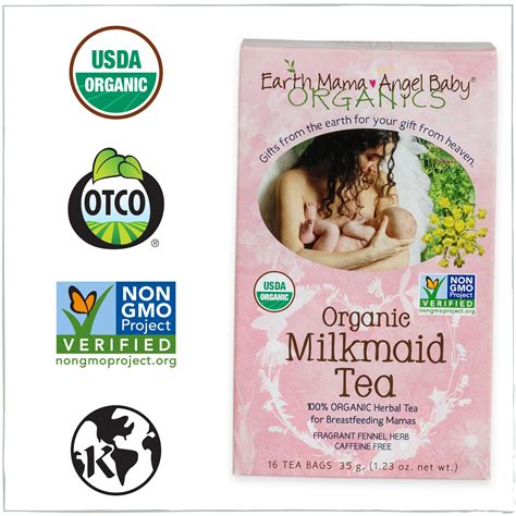 Earth Mama Angel Baby Milkmaid Tea 16 Tea Bags Amazon