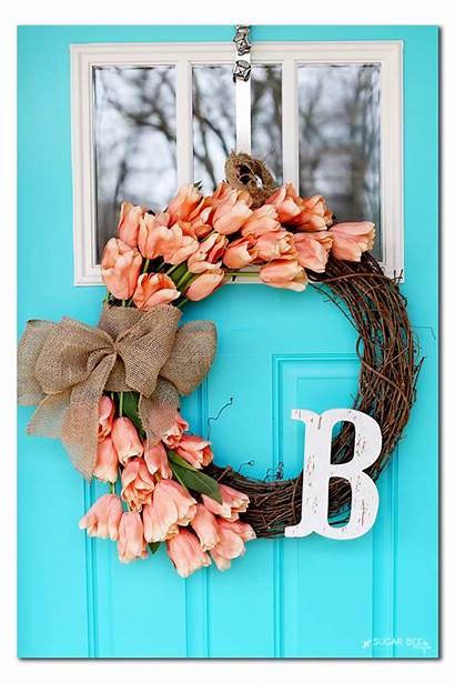 Wreath Spring Bee Door Crafts Sugar Wreaths