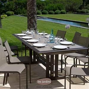 Table De Jardin Aluminium Jardiland : table alu exterieur simple table de jardin en aluminium ~ Melissatoandfro.com Idées de Décoration