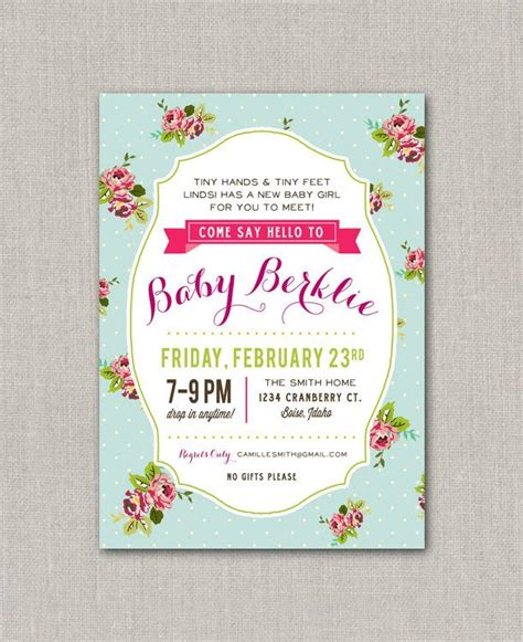 Drop In Baby Shower - i like this for tiny and tiny come drop by