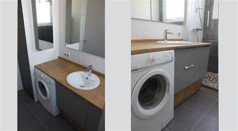 agencement d une salle de bain avec un lave linge atlantic bain