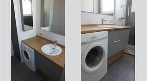 meuble vasque machine a laver With lave linge sous vasque salle de bain