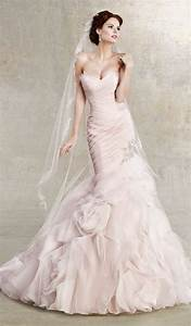 48 romantic pastel wedding gowns happyweddcom With pastel pink wedding dress
