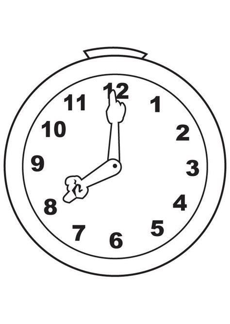 dibujo para colorear reloj 7100