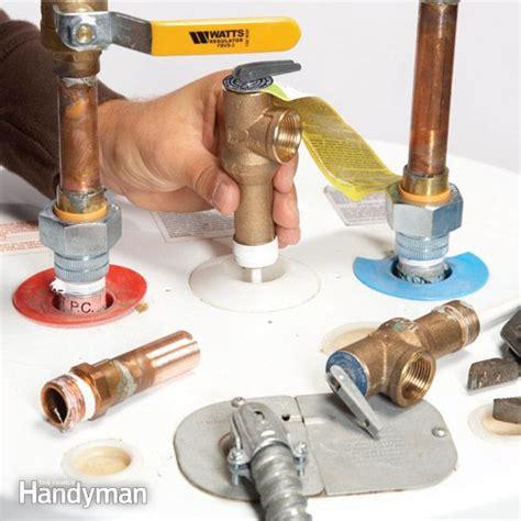 water heater repair   replace  tpr valve