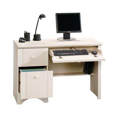 sauder computer desk with keyboard tray shop sauder harbor view casual computer desk at lowes com