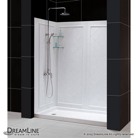 shower kit shower base backwall kit qwall 5